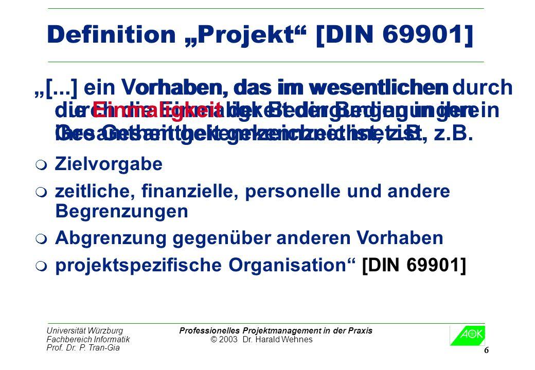 "Definition ""Projekt [DIN 69901]"